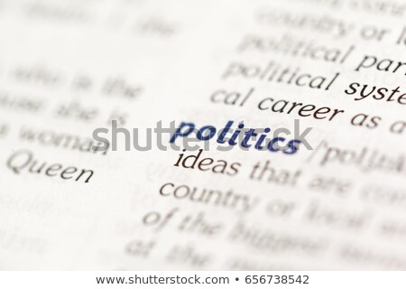 Political  Dictionary Definition Stock photo © chris2766