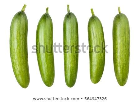 огурцы · изолированный · белый · продовольствие · природы · зеленый - Сток-фото © bloodua