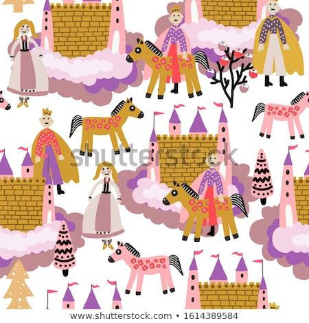 little magic princess and prince vector illustration stock photo © carodi