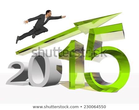 Gazdaság 2015 arany dollárjel mászik piros Stock fotó © 3mc