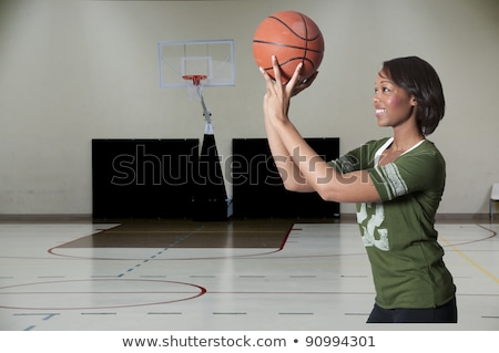 Attractive afro-american basketball player Stock photo © bmonteny