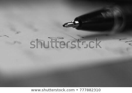 オープン · 帳 · 孤立した · 白 · ペン · 教育 - ストックフォト © dezign56