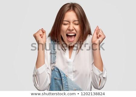 Bin erreicht erfolgreich Geschäftsmann Sieg Stock foto © stockyimages