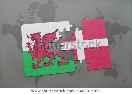 Europeo Unión reino Dinamarca banderas rompecabezas Foto stock © Istanbul2009