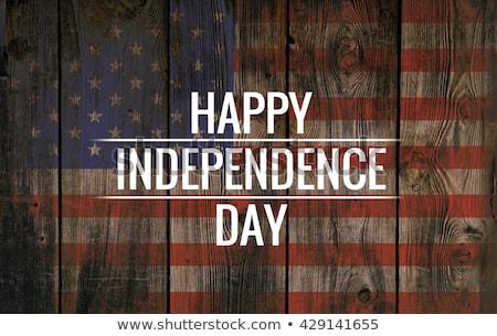 Negyedik boldog nap Amerika illusztráció festmény Stock fotó © vectomart