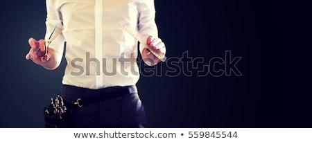 Mężczyzna stylista nożyczki czarny piękna Zdjęcia stock © dolgachov