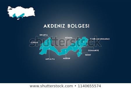 карта Турция из изолированный белый синий Сток-фото © Istanbul2009