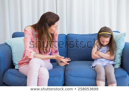 матери непослушный дочь домой гостиной женщину Сток-фото © wavebreak_media
