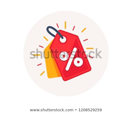 Indirim örnek farklı renk para alışveriş Stok fotoğraf © Lom