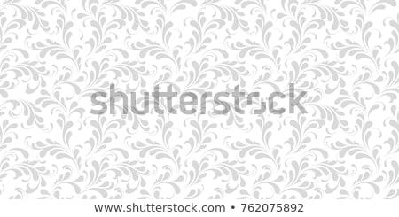 ベクトル · シームレス · モノクロ · フローラル · パターン · 手描き - ストックフォト © lissantee
