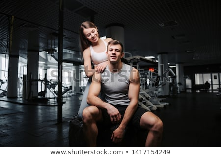 Bodybuilder girl Stock photo © alphaspirit