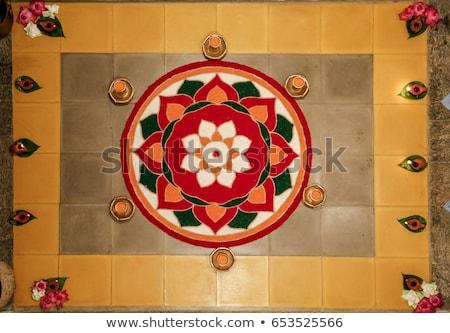 abstract artistic colorful rangoli circle Stock photo © pathakdesigner