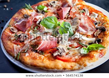 pizza · ruw · mozzarella · kaas · vlees · bestanddeel - stockfoto © Digifoodstock