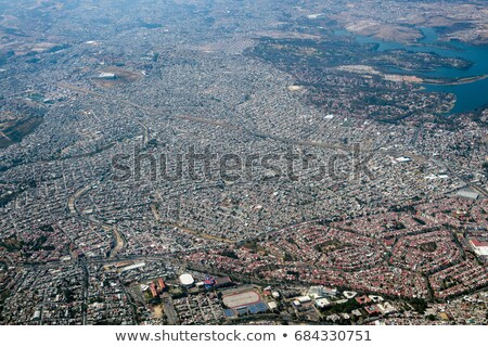 mexico df city town aerial view from airplane stock photo © lunamarina