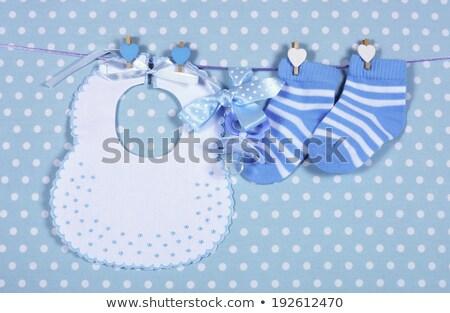 baby male and blue bib Stock photo © adrenalina