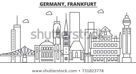 Skyline Francoforte sul Meno principale vecchio storico ponte Foto d'archivio © meinzahn