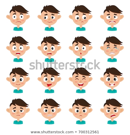 Peu garçon différent expressions faciales illustration sourire Photo stock © bluering