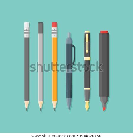 Zwarte fiche pen gum klein Stockfoto © dezign56