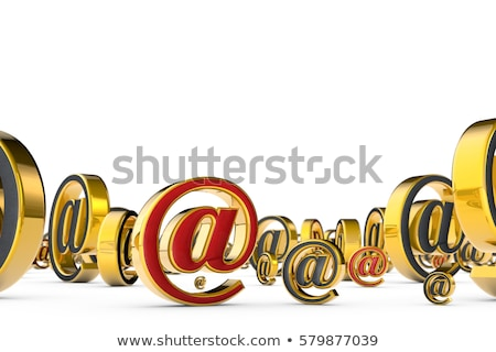 e mail greygold symbol 3d render illustration isolated over w stock photo © grechka333