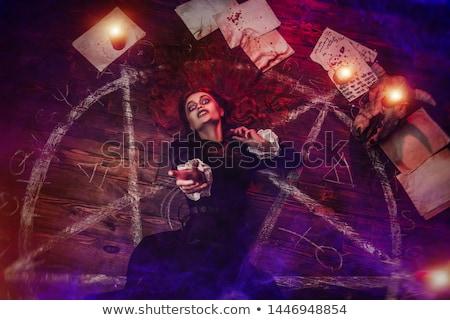 Film mágikus ördög illusztráció tűz film Stock fotó © bluering