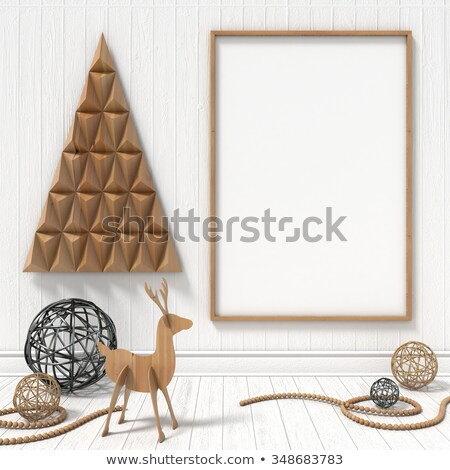 Christmas pusty ramki kartkę z życzeniami vintage kawy Zdjęcia stock © marimorena