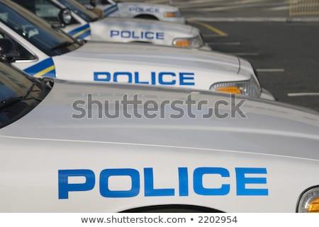 Amerikan polis memuru sabah meyve suyu taze Stok fotoğraf © Peteer