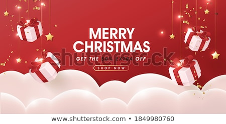 Natale vendita carta abstract oro fiocchi di neve Foto d'archivio © tandaV