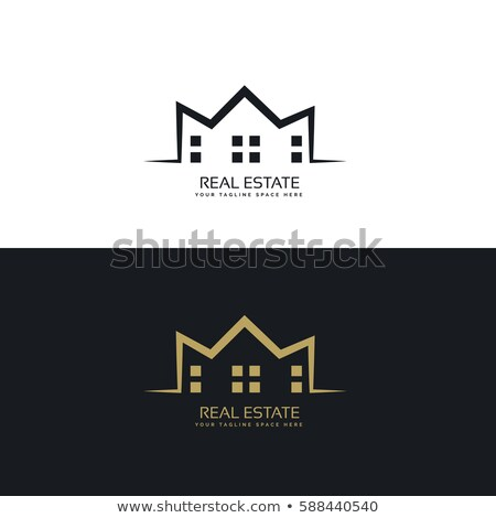 modern logo design for real estate sector Stock photo © SArts