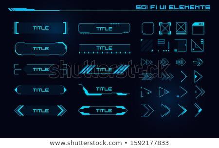 Set of user interface elements Stock photo © SwillSkill