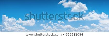 Kék ég felhők nap sugarak égbolt repülőgép Stock fotó © vapi