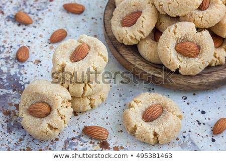 Küçük badem kurabiye mor tatlı tatlı Stok fotoğraf © Digifoodstock