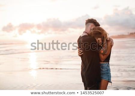 Uomo bacio fidanzata ritratto Coppia Foto d'archivio © LightFieldStudios