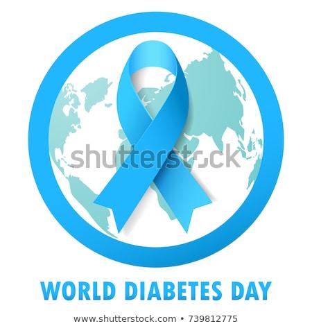 Banner cukrzyca diagnoza formularza stylizowany napis Zdjęcia stock © Olena