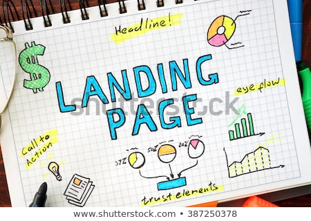 Landing Page Optimization - Business Concept. Stock photo © tashatuvango
