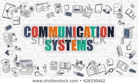 Communication Systems Concept. Multicolor on White Brickwall. Stock photo © tashatuvango