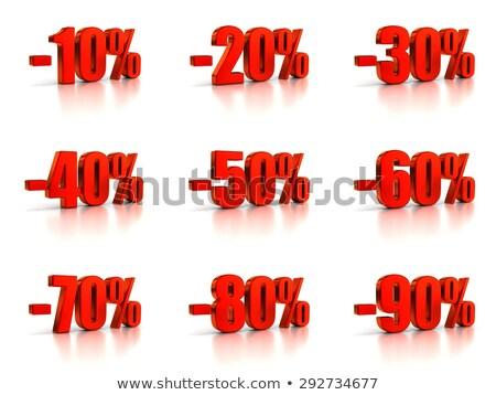 Rood minus tachtig procent teken geïsoleerd Stockfoto © Oakozhan