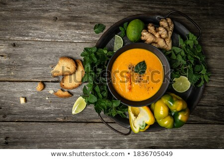 carrot puree with nuts Stock photo © M-studio