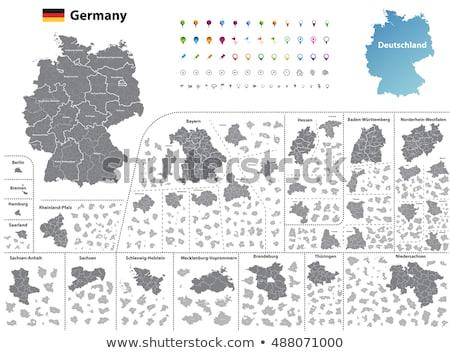 карта снизить фон синий линия вектора Сток-фото © rbiedermann