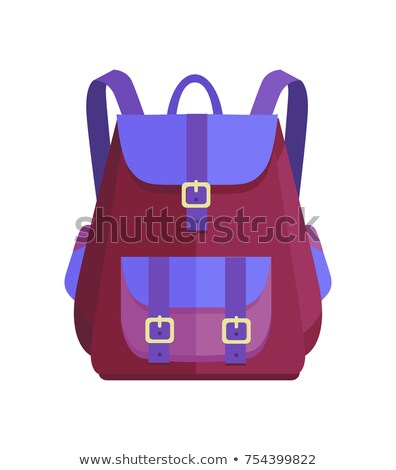 Rucksack Unisex in Purple and Blue Colors Vector Stock photo © robuart
