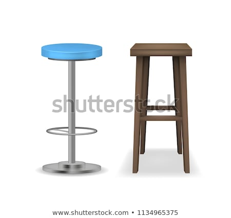 Stock photo: various types of stools
