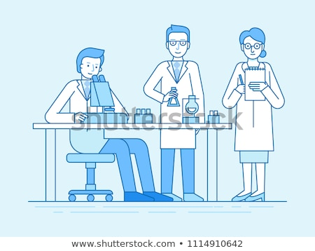 A Scientist Exploring in Lab Stock photo © bluering