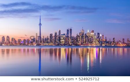 Торонто порт закат Skyline Сток-фото © brianguest