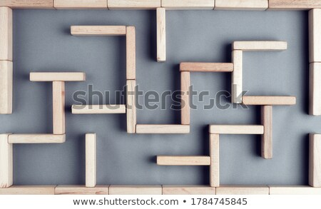 Overhead View Of Labyrinth Stock photo © AndreyPopov