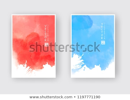 Blue painted textured abstract background with brush strokes in gray and black shades. Stock photo © ivo_13