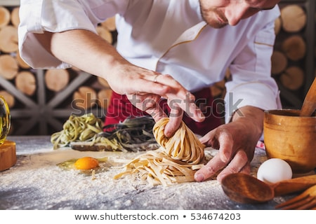 italian pasta uncooked stock photo © bdspn
