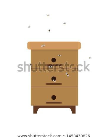 Homemade Beehive with Bees Isolated Cartoon Icon Stock photo © robuart