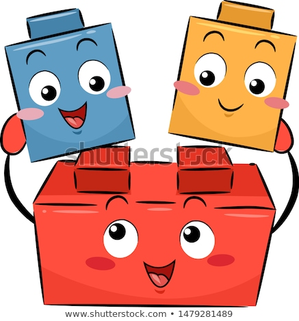 mascot blocks shapes illustration stock photo © lenm