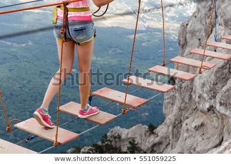 large climbing ladder rope stock photo © colematt