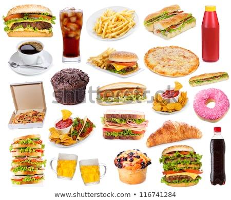 Set of junk food Stock photo © colematt