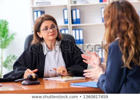 Photo stock: Young woman visiting female lawyer